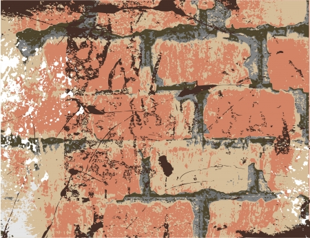 old brick wall: old brick wall with scratches