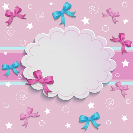 baby: a place for an inscription on a beautiful pink background Illustration