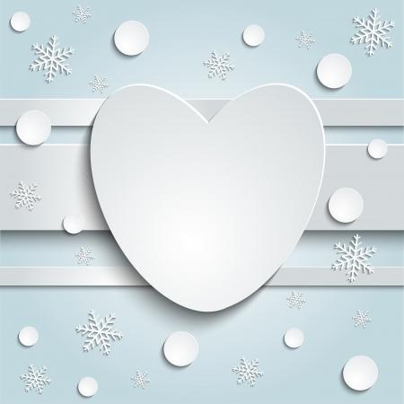 harten kaart op een blauwe achtergrond papieren stickers