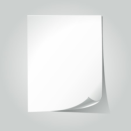 a sheet of white paper notebook with space for writing Illusztráció