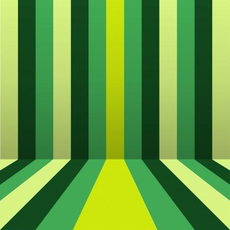 revivalism: Beautiful pattern of green belts strips in perspective