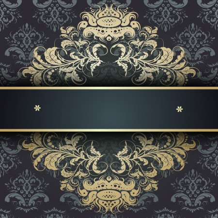 Elegant background with lace ornament and place for text.   Vector