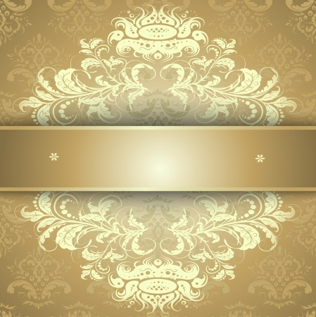 Elegant background with lace ornament and place for text. Floral elements, ornate background. Vector