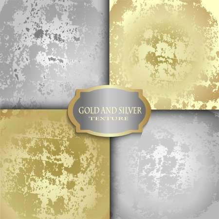 gold textures: Set of silver and gold textures