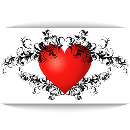 red heart is isolated on a white background Vector