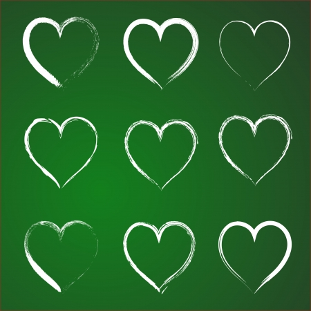 st valentines day: Heart icons set. INFINITE LOVE Looped Ribbon style. Hearts templates such as logo for St. Valentines day. Illustration