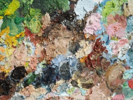 oilpaint: Image of oil-paint palette