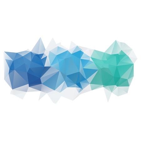 Licht blauwe vector abstracte veelhoekige achtergrond