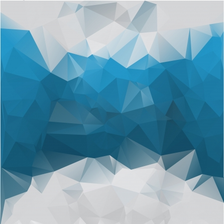 Abstract polygonal blue vector background of triangles. Eps 10.  イラスト・ベクター素材