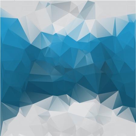 fondos negros: Poligonal fondo azul abstracta del vector de los tri�ngulos. Eps 10. Vectores