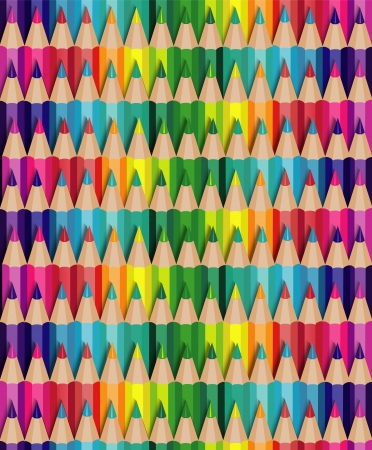 seamless texture with multicolored pencils Vector
