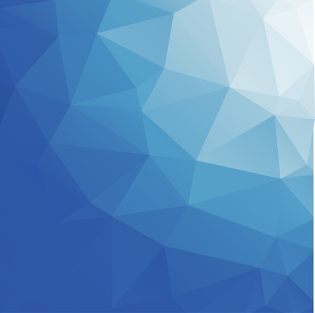 rumpled: Light blue vector abstract polygonal background