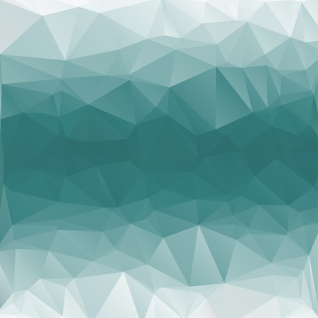Abstract geometric background with polygons aqua, turquoise.  Vector    Ilustração