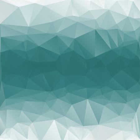 Abstracte geometrische achtergrond met polygonen aqua, turkoois. Vector Stock Illustratie