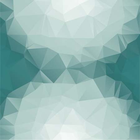 Abstract geometric background with polygons aqua, turquoise.      Vector