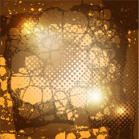 brown grunge background with spots and stains Vector