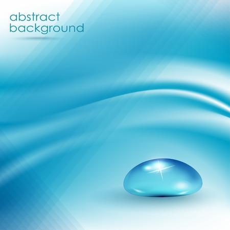 Abstracte blauwe achtergrond, golvende vectorillustratie eps10 Stock Illustratie