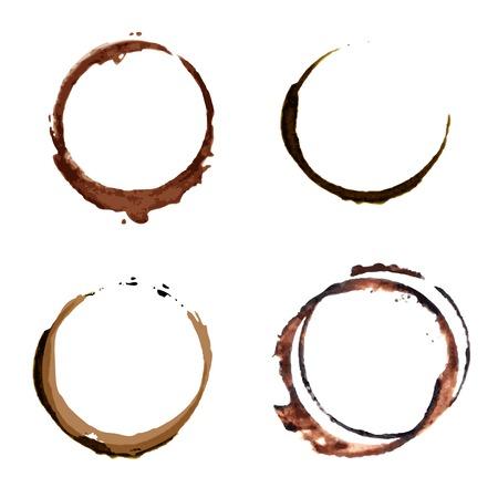 コーヒーの染みリング ベクトル  イラスト・ベクター素材