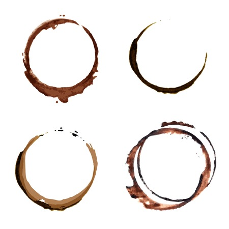 coffee spill: Coffee Stain Rings Vector Illustration