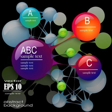 moder: Moder abstract banner design for infographics. Esp 10 vector illustration Illustration