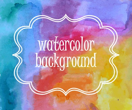 Water Color Background. Abstract art hand paint Stock Vector - 31414972