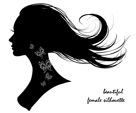 beautiful female silhouette