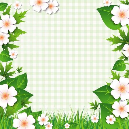 季節の花を持つ自然な背景