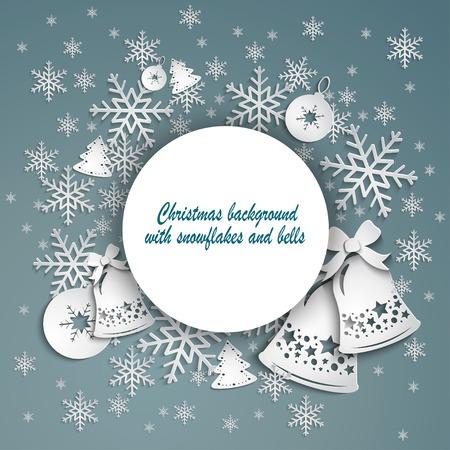 campanas de navidad: elegante fondo de Navidad, con piedras