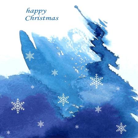 abstract geschilderde achtergrond, aquarel abstracte winter achtergrond