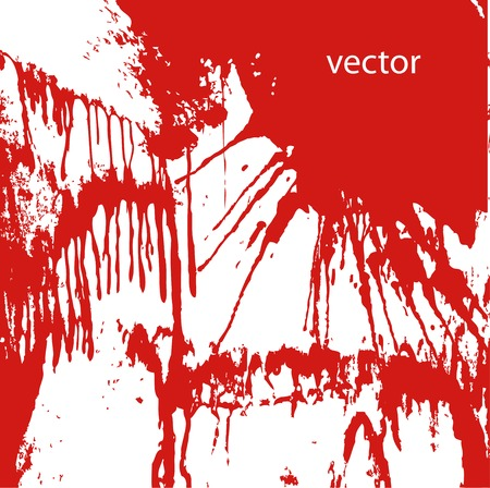 blood stain: Blood splatters on white Illustration
