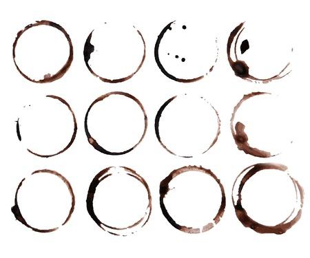 tazas de cafe: Mancha de caf� suena vector Vectores