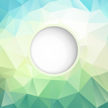 Abstract geometric background with polygons turquoise color.