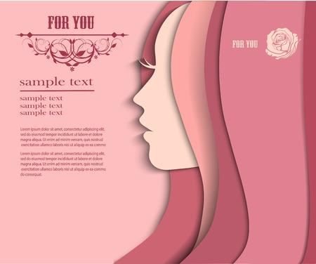 Vector illustration de la silhouette de la femme avec de beaux cheveux Banque d'images - 34019215