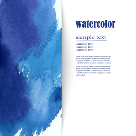 Watercolor blue background with space for text Illustration