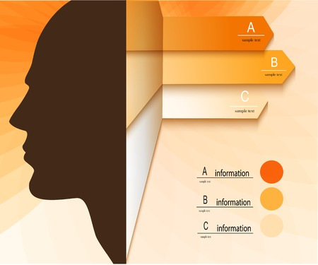 Infographic Concept with Human Head Vector