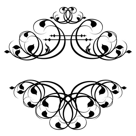 page decoration: Calligraphic frame and page decoration. Vector illustration Illustration