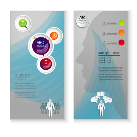 brochure layout: Professional business flyer template or corporate banner design, can be use for publishing, print and presentation with elements of infographics Illustration