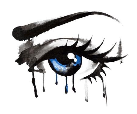 ojos azules: Dibujado Ojos Mano