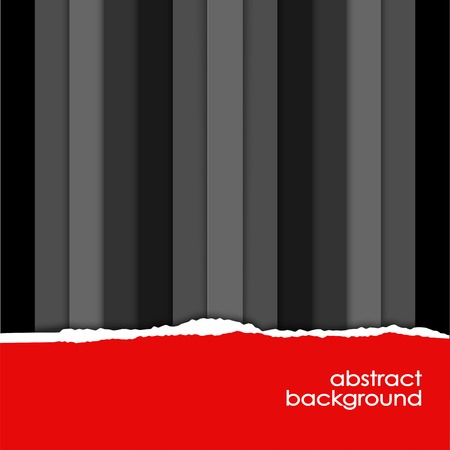 edges: red hole with torn edges in black paper Illustration