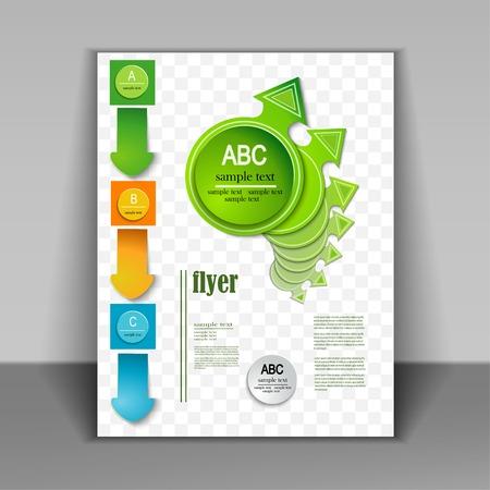 Brochure design. Vector arrows Vector