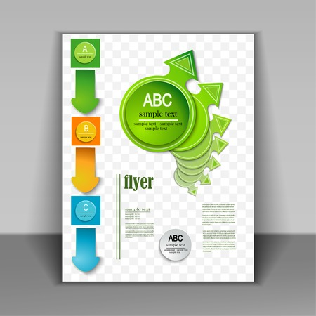 Brochure design. Vector arrows Vector