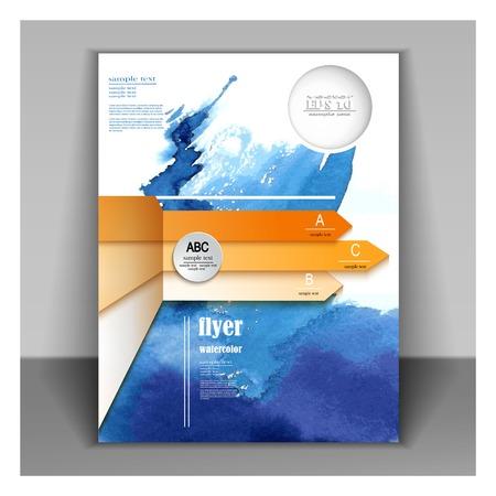 brochure  flyer ontwerpen Stock Illustratie