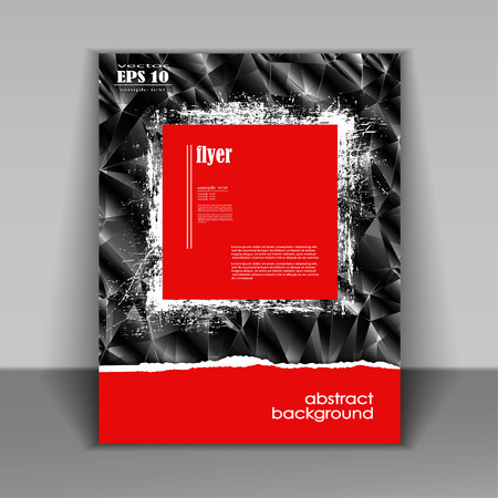Professional business red flyer template, brochure or cover design or corporate banner design for publishing, print and presentation. EPS 10.