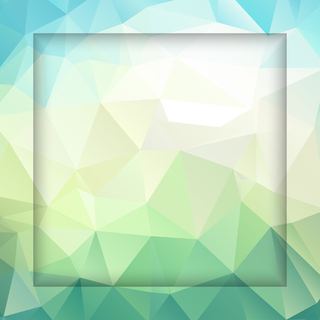 emplate: Abstract geometric background with polygons turquoise color. Vector EPS10 illustration.