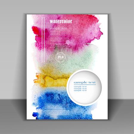 abstracte aquarel stijl brochure design Stock Illustratie