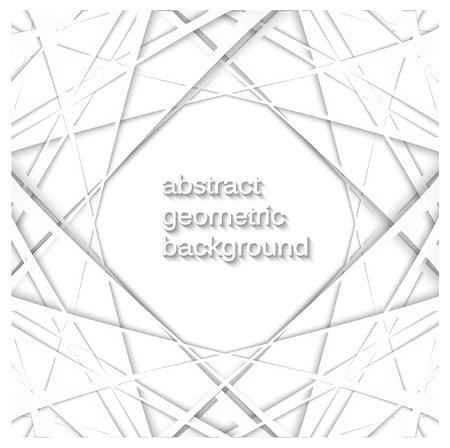 Witte geometrische textuur. Vector achtergrond
