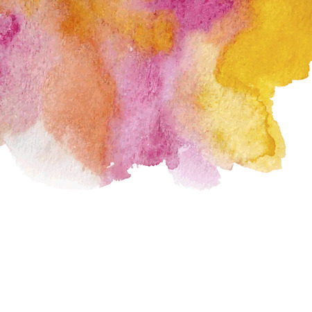 Colorful watercolor background, watercolor texture, colorful hand-drawn vector  イラスト・ベクター素材