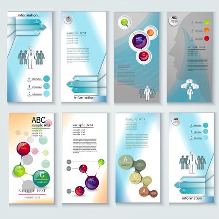 Set van brochure ontwerp templates. Design elementen, Creative infographic presentatiesjablonen