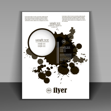 minimalist style: Grunge black banners for yours designs, booklet in a minimalist style with black spots