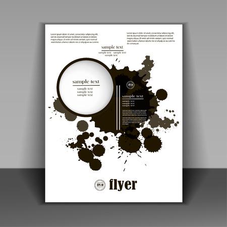 Grunge zwarte banners voor jou ontwerpt, boekje in een minimalistische stijl met zwarte vlekken Stock Illustratie